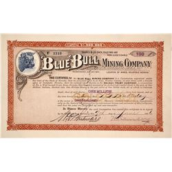 Blue Bull Mining Company Stock Certificate