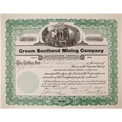 Groom Southend Mining Company Stock Certificate (Area 51 and Nuclear Test Range)