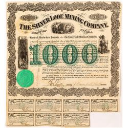 Silver Lode Mining Company early Nevada Mining Bond