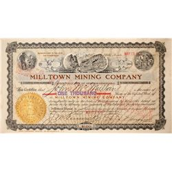 Milltown Mining Company Stock Certificate: Wingfield Collection