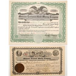 Two Milltown Stock Certificate