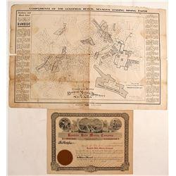 Rawhide Mining Map & Stock Certificate