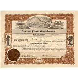 The Reno-Peavine Mines Co. Stock Certificate, 1912