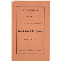 1865 Report of the Uncle Sam Senior and Gold Canon Silver Lodes (Gold Hill, NV)