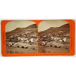 Stereoview of Quartz Mills & Mining Works at Gold Hill, Nevada