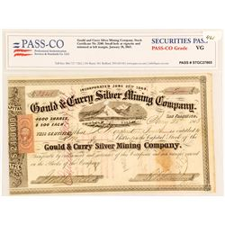 Gould & Curry Silver Mining Company Stock Certificate, 1865