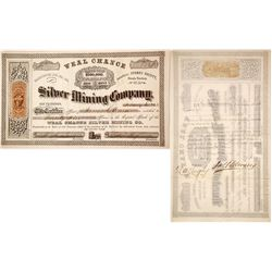 Weal Chance Silver Mining Co. Stock Certificate, Storey County, Nevada Territory, 1864