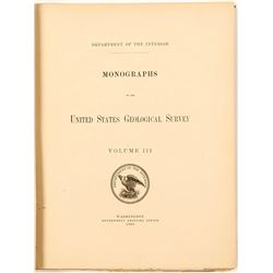 USGS Geology of the Comstock Lode by Becker