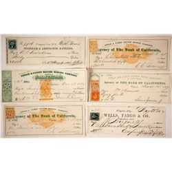 Six Early Comstock Checks Related to Mining
