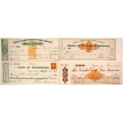 Gould & Curry Mining Co. Revenue Check Collection, Virginia City, Nevada