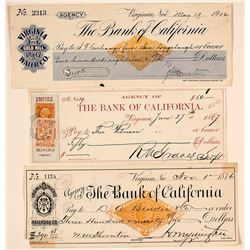 Three Virginia City Revenue Checks: Railroad, Mining, & Water