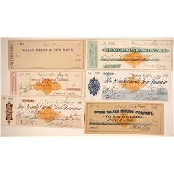 Virginia City, Nevada Mining Revenue Check Collection