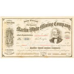 Martin White Mining Co. Stock Certificate, Ward District, White Pine County, Nevada 1878