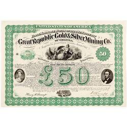 Great Republic Gold & Silver Mining Company Bond