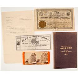Interesting Group of Nevada Mining Stocks and Ephemera, etc.