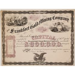 Fancy Proof Speciman Stock Certificate for the Frankfort Gold Mining Company