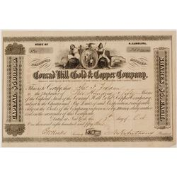 Conrad Hill Gold & Copper Company Stock Certificate