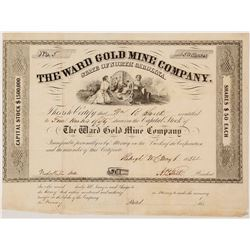 Ward Gold Mine Company Stock Certificate, Number 5