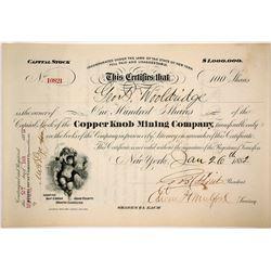 Copper Knob Mining Company Stock Certificate