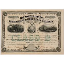 North Carolina Gold Mining and Reduction Company Stock Certificate