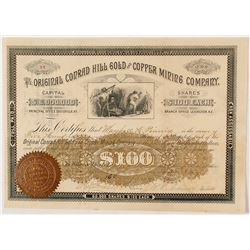 The Original Conrad Hill Gold & Copper Mining Company Stock Certificate