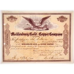 Mecklenburg Gold & Copper Company Stock Certificate