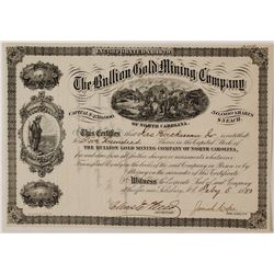 Rare Bullion Gold Mining Company of North Carolina Stock Certificate