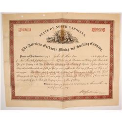 American Exchange Mining & Smelting Co. Stock Certificate