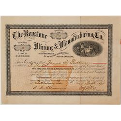 Keystone Mining and Manufacturing Company Stock Certificate