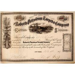 Roberts Petroleum Torpedo Company Stock Certificate