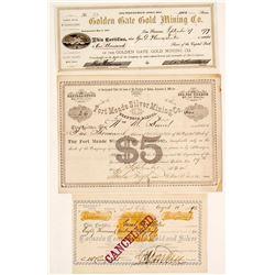 Dakota Territory Mining Certificates (3)