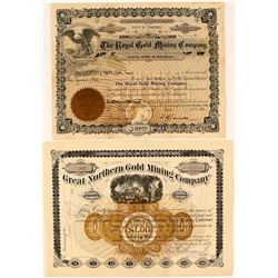 Two Dakota Mining Stock Certificates