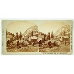 Stereoview Alta City, Little Cottonwood Canyon