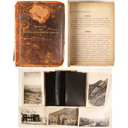 Gold Development Co. of Utah, Minutes Book
