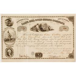 Slate Hill Gold Mining Company Stock Certificate