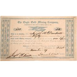 Eagle Gold Mining Company Stock Certificate