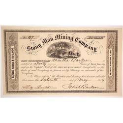 Stony Man Mining Company Stock Certificate