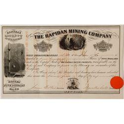Rapidan Mining Company Stock Certificate