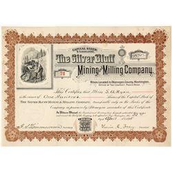 Silver Bluff Mining & Milling Co. Stock Certificate, Okanogan County, WA 1895