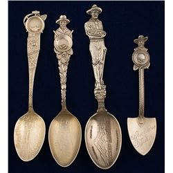 Washington Silver Mining Spoons (4)