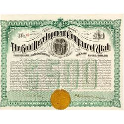Gold Development Company of Utah Gold Bond