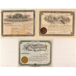 Three Different Wyoming Mining Stock Certificates