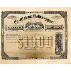 Galeana Gold & Silver Mining Co. Stock Certificate, Chihuahua, Mexico, 1888