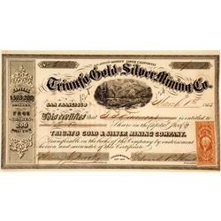 Triunfo Gold & Silver Mining Co. Stock Certificate, Lower California, 1865