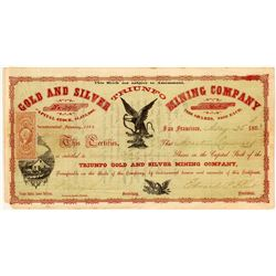 Triunfo Gold & Silver Mining Co. Stock Certificate, Lower California, 1863