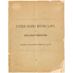 US Mining Laws and Regulations Thereunder