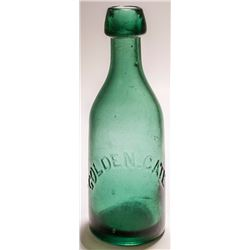 Golden Gate Green Soda Bottle