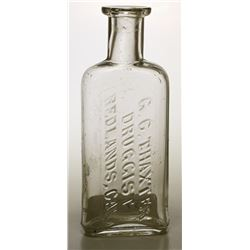 G. C. Thaxter Druggist (Redlands) Bottle