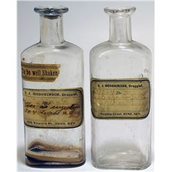 Two S. J. Hodgkinson Druggist Bottles (Reno, Nevada)
