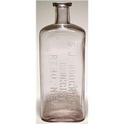 S. J. Hodgkinson Druggist Bottle, Reno, Nevada